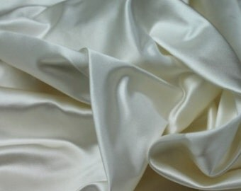 Grande silk satin - exceptional double faced duchesse silk satin fabric in ivory or white- 54 inches wide- pure silk