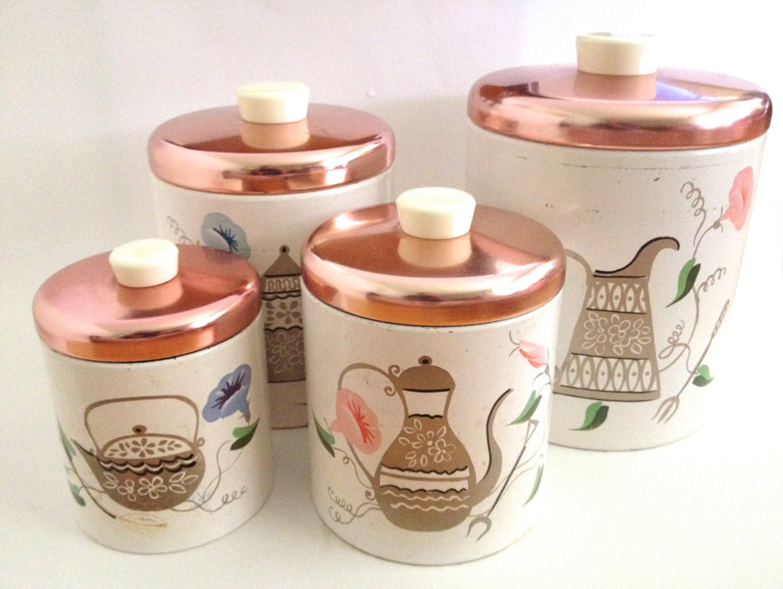 fantastic canister set kitchen flour sugar containers teapots