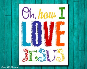 Oh, how I love Jesus. Church Wall Art. Nursery Decor. Kids Room Decor. Christian Wall Art. Christian Wall Decor. Bible Verse. Preschool