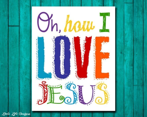 Jesus Wall Decoration : Oh how i love jesus church wall art nursery decor kids