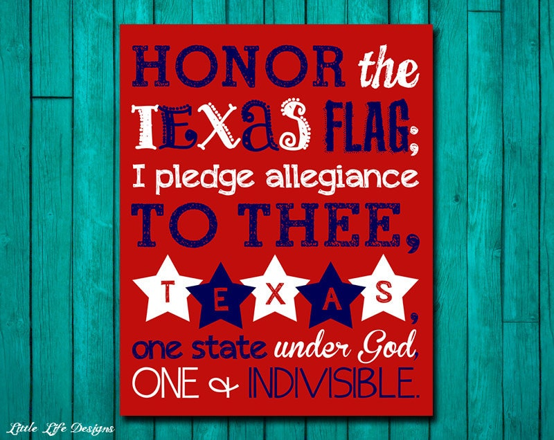 Unforgettable image for texas pledge printable