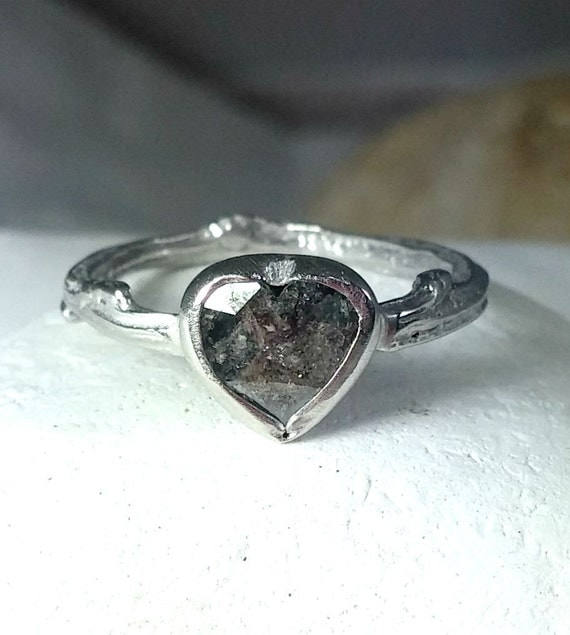 Diamond Engagement Ring Soliatire ring Grey rose by EarthDiamond