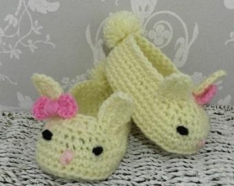 Crochet Bunny Baby slippers booties