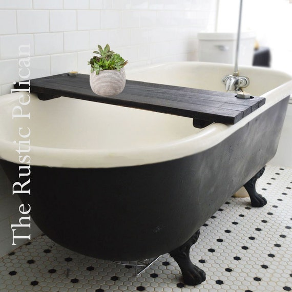 Bathtub Caddy Rustic Bathtub Tray Tub Tray Wood By RusticPelican