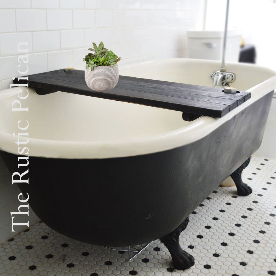 bathtub caddy rustic bathtub tray tub tray wood by