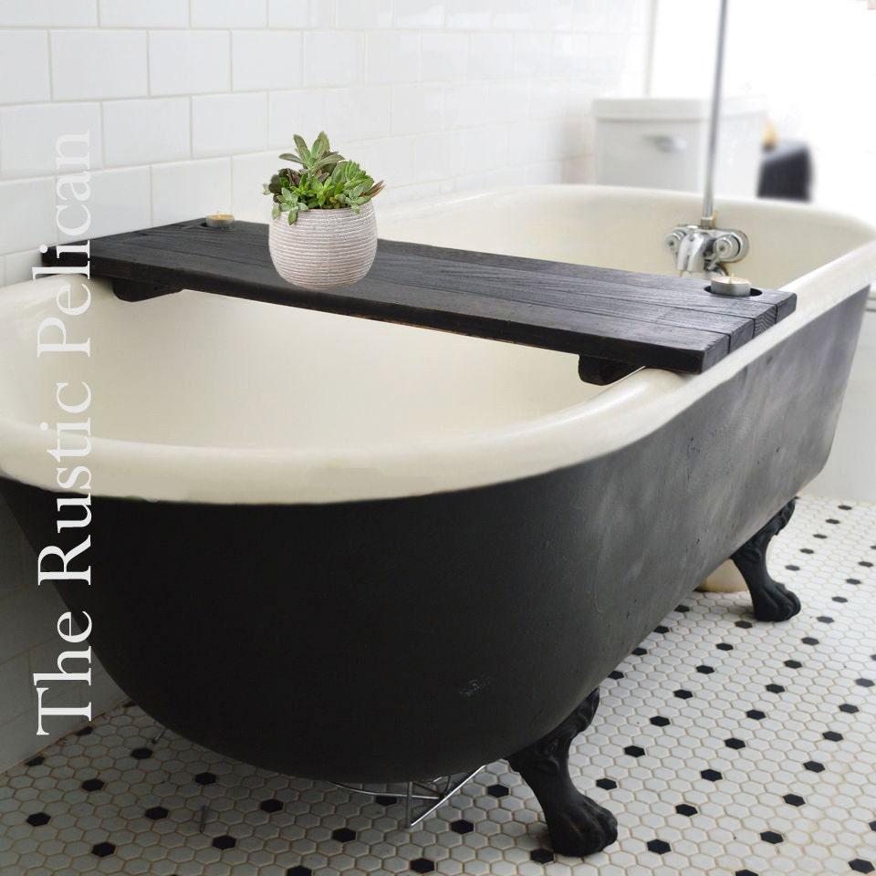 bathtub caddy rustic bathtub tray tub tray wood by