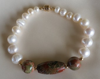 opal and white pearl bracelet