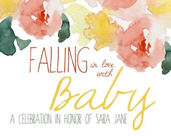 Falling in Love Baby Shower Invite