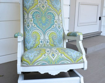 Antique Victorian Rocker Updated Shipping Included