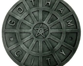 Batman Dark Knight Begins Man Hole Sewer Cover Man Cave Wall Art