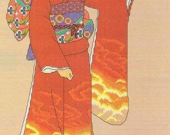 LAVENDER GEISHA LADY Complete Stitching Materials
