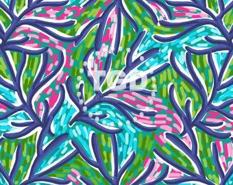 Preppy Navy Coral digital paper - Original Art download, watercolor digital paper, commercial use, preppy print, invitation