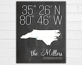 Latitude Longitude Print - Address Sign - Housewarming Gift - New Home Sign - New House Gift - Custom Address Sign - Chalkboard Address Art