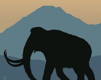 Woolly Mammoth (Art Prints available in multiple sizes)