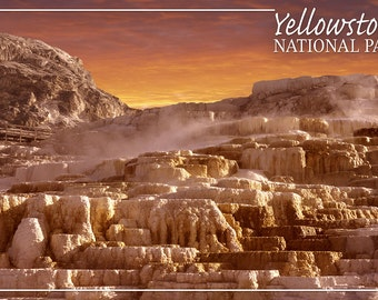 Yellowstone National Park - Mammoth Hot Springs (Art Prints available in multiple sizes)