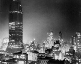 Empire State Building at Night NYC Photo (Art Prints available in multiple sizes)