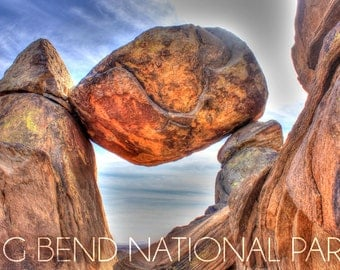 Big Bend National Park, Texas - Balanced Rock (Art Prints available in multiple sizes)