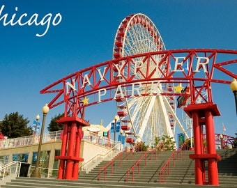 Chicago, Illinois - Navy Pier (Art Prints available in multiple sizes)