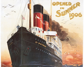 Great Western Railway - Steamship - Vintage Poster (Art Prints available in multiple sizes)