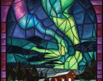 Alaska Stained Glass Etsy