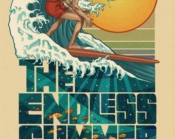 Virginia Beach, Virginia - The Endless Summer - Underwater Scene (Art Prints available in multiple sizes)