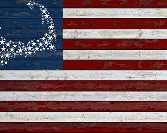 Cape Cod, Massachusetts - Flag (Art Prints available in multiple sizes)