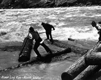 Idaho - Priest River Log Run Scene Photograph (Art Prints available in multiple sizes)