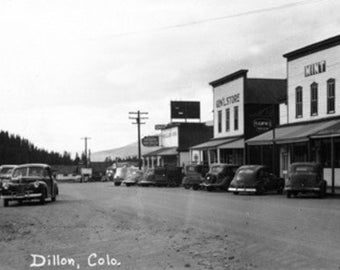 Dillon, Colorado - Street Scene Photograph (Art Prints available in multiple sizes)