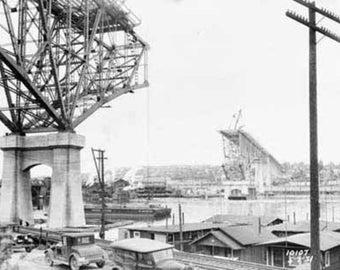 Aurora Bridge Construction (Seattle) Photograph (Art Prints available in multiple sizes)