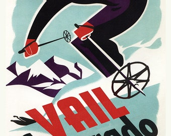 Ski in Vail, Colorado (Art Prints available in multiple sizes)