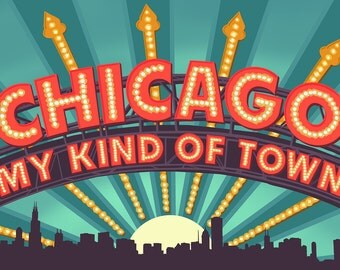 Chicago, Illinois - Marquee (Art Prints available in multiple sizes)