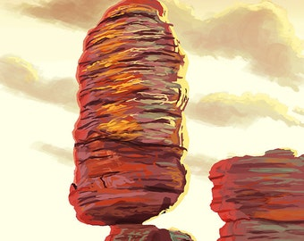 Chiricahua National Monument - Pinnacle Balanced Rock (Art Prints available in multiple sizes)