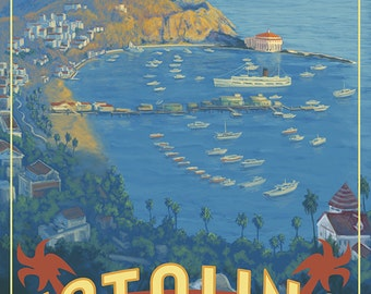 Catalina Island, California (Art Prints available in multiple sizes)