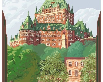 Quebec City, Canada - Ch?teau Frontenac (Art Prints available in multiple sizes)