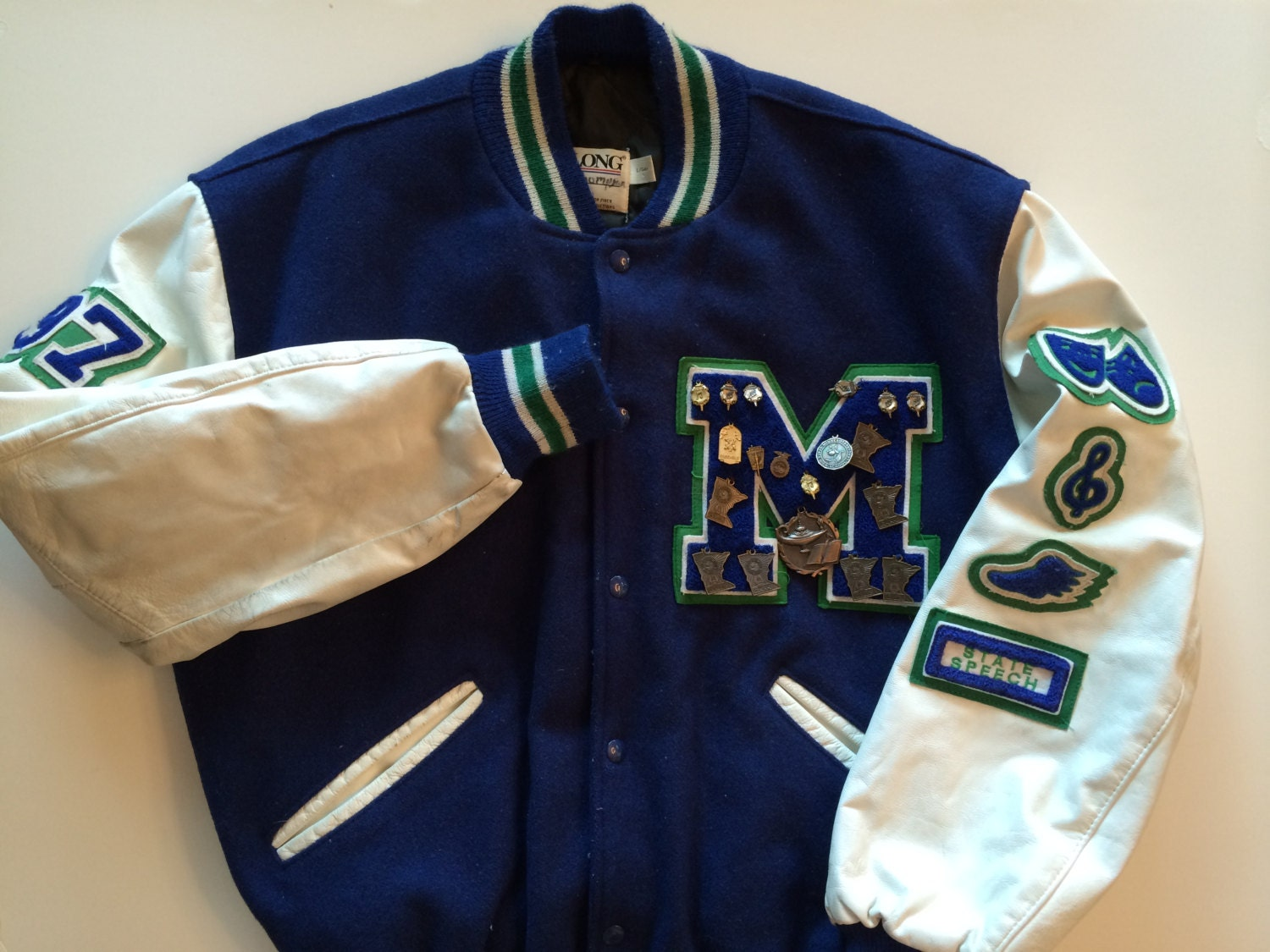 varsity letter jacket amazing school jacket in blue green With varsity letter jacket pins