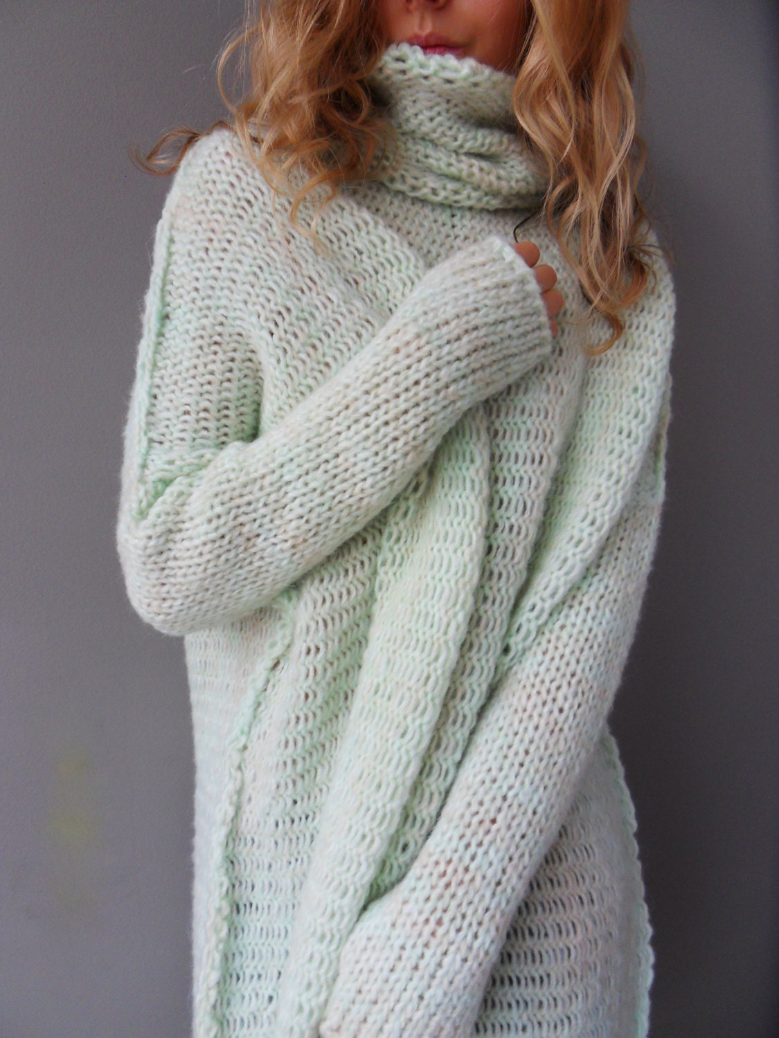 Chunky Oversized women knit sweater. Slouchy/Bulky/Loose