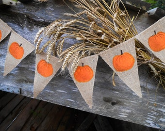 Thanksgiving Garland Thanksgiving Decor Thanksgiving Banner Thanksgiving Bunting Pumpkin Banner Autumn Decor Pumpkin Garland Pumpkin Bunting