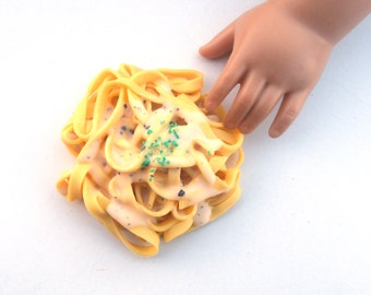 Italian Creamy Fettuccine Alfredo - Handmade Gourmet Doll Food For Your American Girl Doll