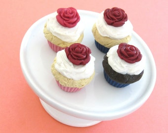 Rose Cupcakes - American Girl GoTY 2015 Grace Thomas Bakery/Pâtisserie Treats - Gourmet 18 Inch Doll Food