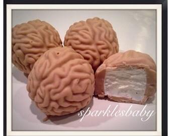 Brain Chocolate Covered Marshmallows, Set of 12 Halloween Brains