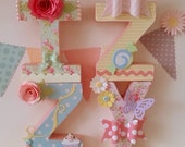 Hand decorated letters (per letter) ON OFFER