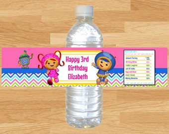 Umizoomi Water Bottle Wrappers, Umizoomi, Team Umizoomi, Umizoomi Birthday, Milli Water Bottle Wrappers, Geo Water Bottle, Bot Water Bottle