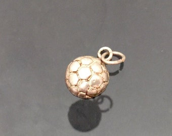 Vintage Sterling Silver Ball Charm Pendant
