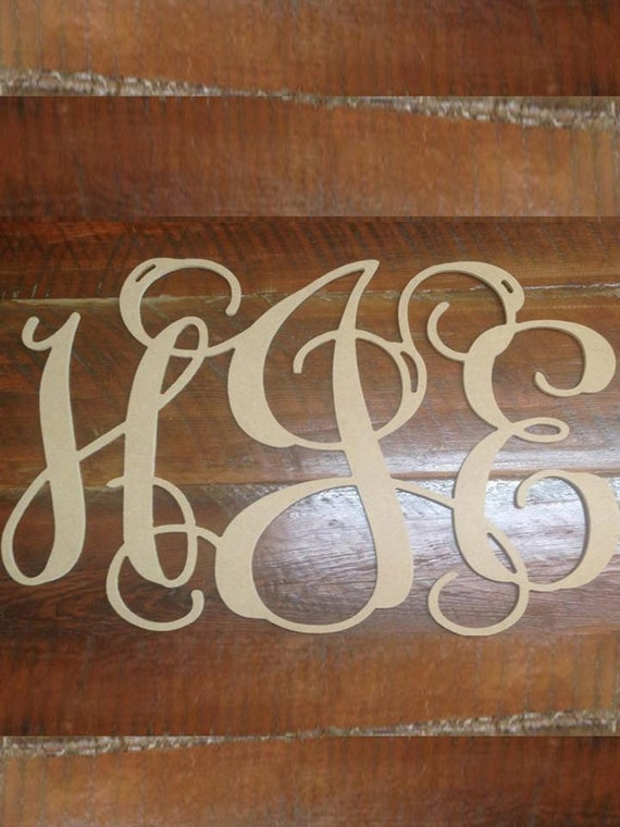 Etsy Initial Wall Decor : Small vine monogram letters initial wall decor