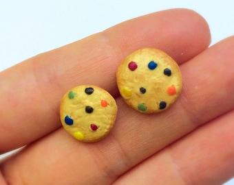 M&M Cookie earrings