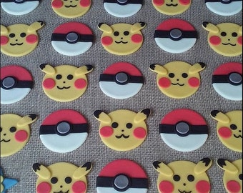 12 Inspired Pokemon cupcake toppers