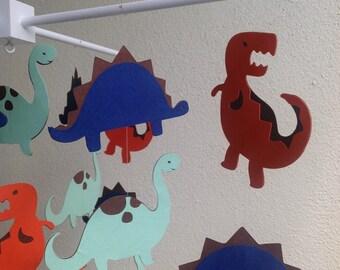 Dinosaur Mobile -  Dino Mobile - Dino Toddler Room Decor  - Dinosaur Baby Room Decor