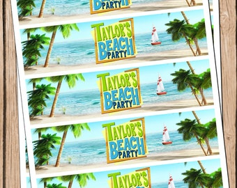 Teen Beach Movie Water Bottle Labels, Teen Beach Movie Party, Teen Beach Movie Birthday