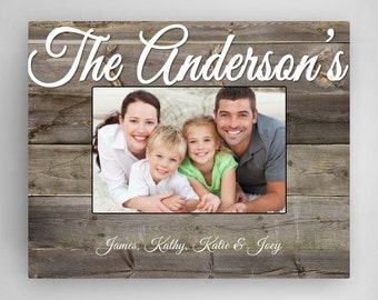 Personalized Family Frame - Custom Frame - Rustic Wood Frame - Personalized Picture Frame - Mother's Day Gifts - GC1295 PLANK