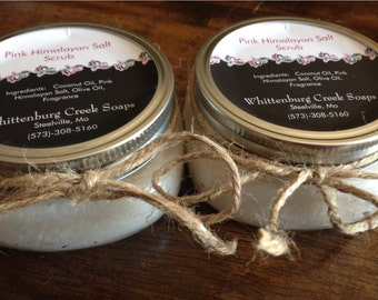 Pink Himalayan Salt Scrub // Coconut Oil // Olive Oil // Gift